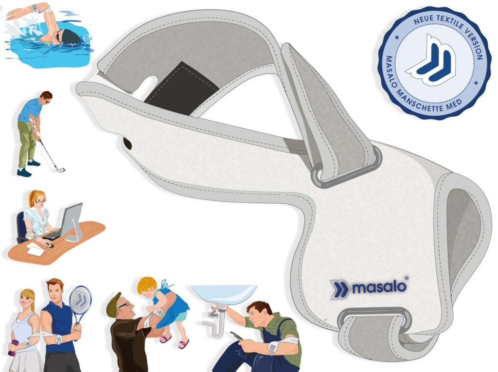 Masalo Manschette bei Epicondylitis